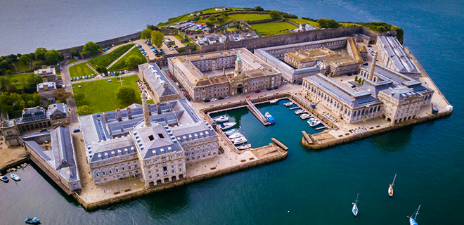 Photo of Royal William Yard from above